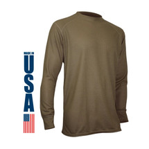 XGO Phase 2 Performance Midweight Long Sleeve Crew USA Made Tan 499