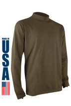 XGO Phase 4 Performance Heavyweight Long Sleeve Crew USA Made Tan 499