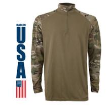 XGO FR Defense Base Layer (DBL) Combat Shirt Multicam USA Made Berry Compliant
