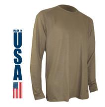 XGO FR Phase 1 Lightweight Long Sleeve Crew USA Made Tan 499