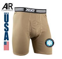 XGO Performance A1R Commando Lightweight Mesh Boxer Brief USA Made Tan 499