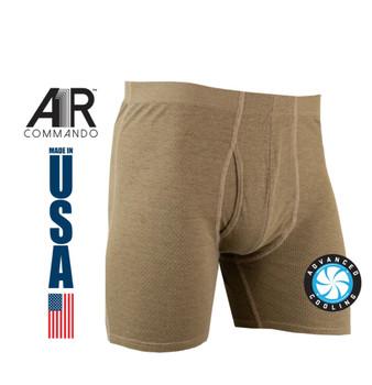 XGO FR A1R Commando Lightweight Mesh Boxer Brief Tan 499 USA Made