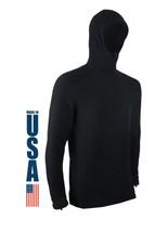 XGO Phase 5 Performance Heavyweight Fleece Zip Hoodie USA Made Black