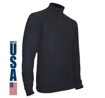 XGO Phase 5 Performance Heavyweight Fleece Zip Mock USA Made Black