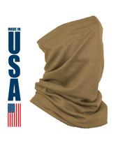 XGO FR Phase 2 Midweight Neck Gaiter USA Made Tan 499
