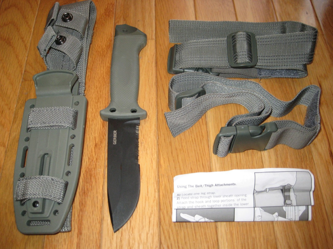75138e1f5f7 ... Gerber LMF II Infantry Survival Knife Foliage Green. Image 1