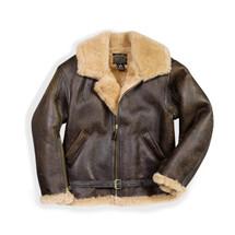 Cockpit USA R.A.F. Sheepskin Bomber Jacket Brown Leather USA Made