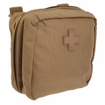 5.11 Tactical 6.6 Med Pouch Flat Dark Earth (FDE), Molle, Pals, Military, Medic, LE, IFAK
