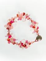 Pink Mix Cluster Bracelet