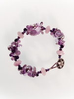 Purple Mix Cluster Bracelet