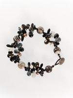 Black White Mix Cluster Bracelet