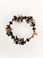 Black Brown Mix Cluster Bracelet