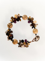 Brown Mix Cluster Bracelet