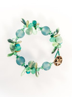 Sky Blue Mix Resin Cluster Bracelet
