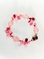 Pink Mix Resin Cluster Bracelet