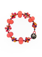 Red Mix Resin Cluster Bracelet