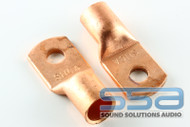 2/0 AWG Copper Lugs 10 Pack w/heat shrink - Sky High Car Audio