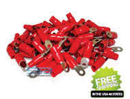 XP FLEX 0 AWG 100PK 10.5mm Ring Terminals Red Boot