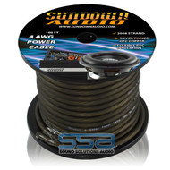 Sundown Audio 4 AWG OFC Black 100ft Power Cable Spool