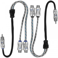 NVX XIX2F 2-Pack Male To Female Y-Adapters RCA Cable