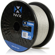 NVX XW4WH100 4 Gauge: 100 Ft Frosted White Power /Ground Wire