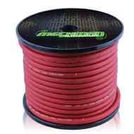 4 gauge OFC pure copper power cable - 100 foot spool - Red