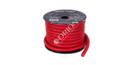 ORION XTR NTENSE WIRE SPOOL 100% OFC COPPER 0 GAUGE 50 FEET RED SOFT RUBBER JACKET
