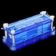 Machined aluminum Single ANL fuse block - Blue