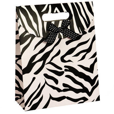 Zebra/Tiger Stripe Gift Bag