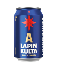 Lapin Kulta Lager 5.2% 330ml cans (case of 24)