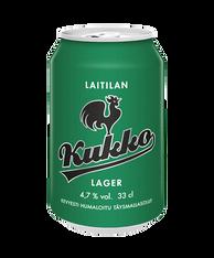 Kukko Lager 4.7% 330ml cans (case of 24) - CELIAC FRIENDLY*