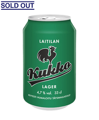 Kukko Lager 4.7% 330ml cans (case of 24) - CELIAC FRIENDLY* (SOLD OUT)
