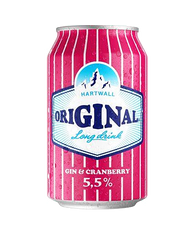 Hartwall Gin & Cranberry 330ml cans (case of 24)