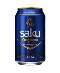 Saku Originaal Beer 5.2% 330ml cans (case of 24)