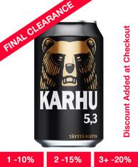 KARHU Beer 330ml cans (case of 24)