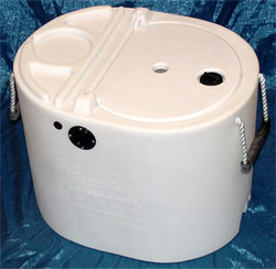 14 Gallon Tank White With KeepAlive®Oxygen Infusor