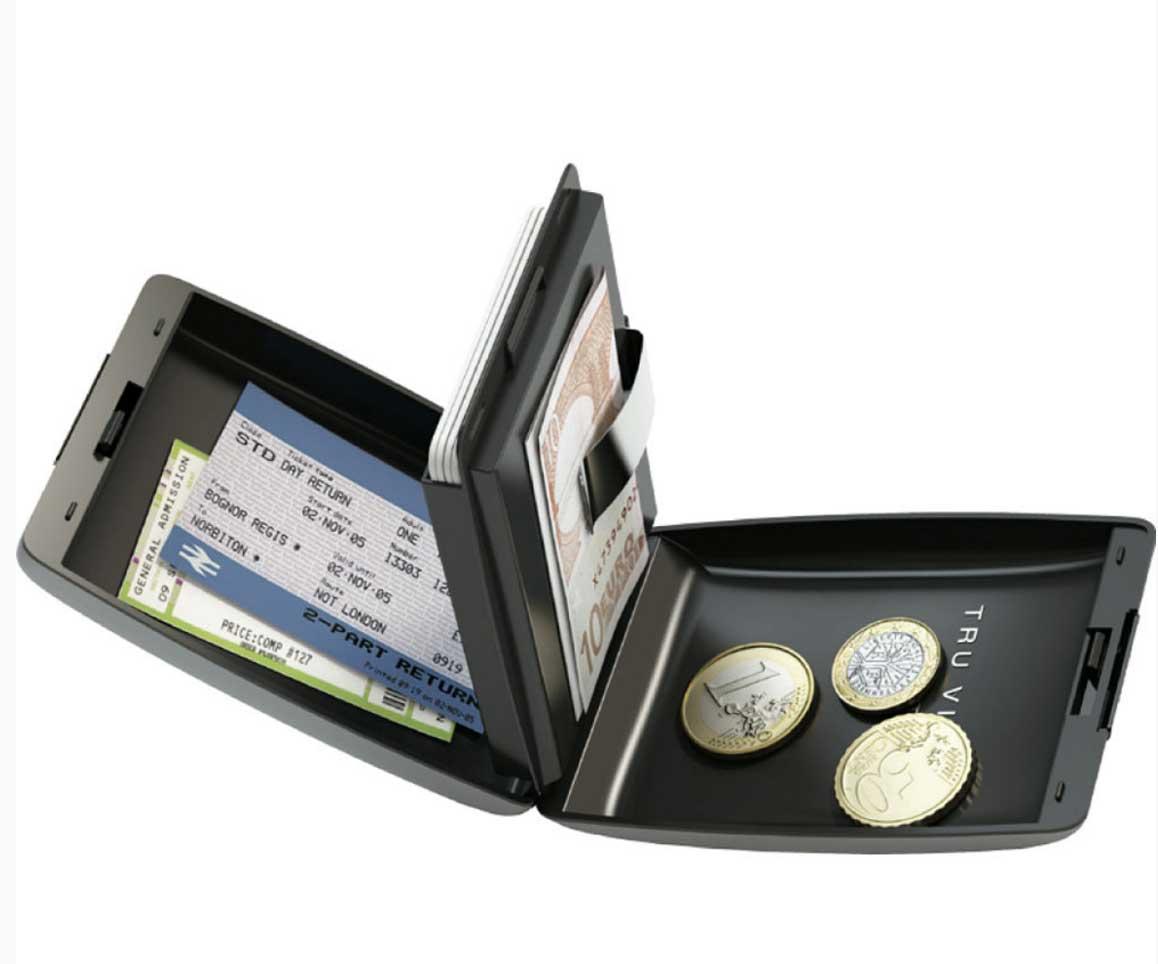 Tru Virtu Oyster aluminium wallet
