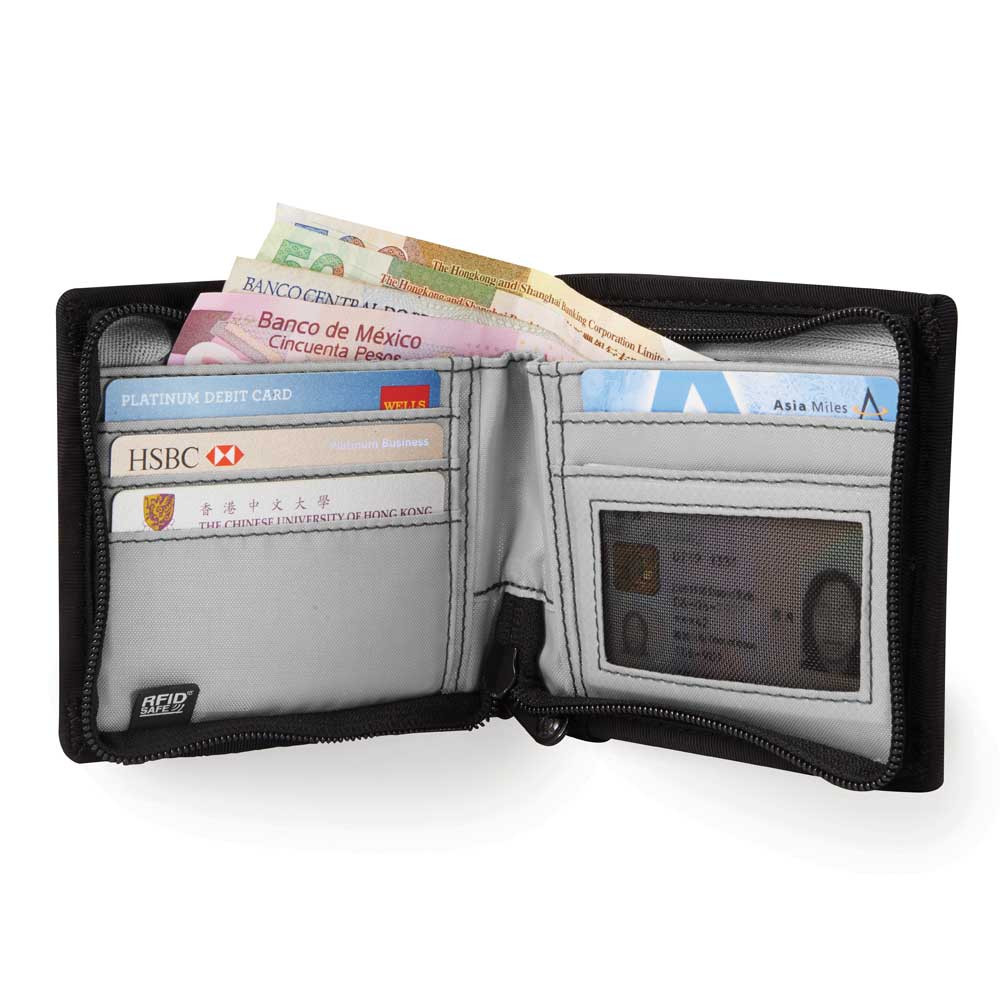 NEW PACSAFE RFID SAFE Z100 BLOCKING BI-FOLD WALLET CHARCOAL PROTECT DATA CARD Men's Accessories Clothing, Shoes & Accessories
