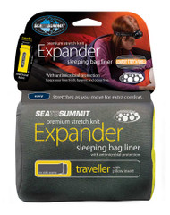 Sea to Summit expander YHA sleeping bag liner with pillow insert