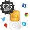 Transatel multi-country sim card pre-loaded with €25 credit