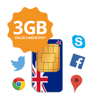 Transatel New Zealand prepaid data SIM card (with 3GB data)