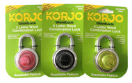 Korjo Wordlock 3 letter combination lock