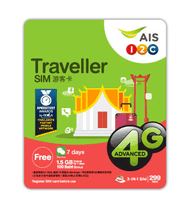 Avoid roaming fees when visiting Thailand with the AIS Traveller SIM