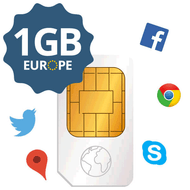 Transatel Europe prepaid data SIM card (with 1GB data)