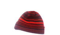 Gents Lambswool Stripe Beanie Hat (#33)