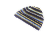 Gents Lambswool Stripe Beanie Hat (#15)