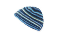 Gents Lambswool Stripe Beanie Hat (#23)