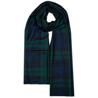 Extra Fine Merino Stole (Black Watch)