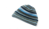 Ladies Lambswool Stripe Beanie Hat (#9)