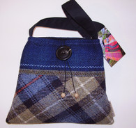 Harris Tweed Handbag (Blue/Grey)